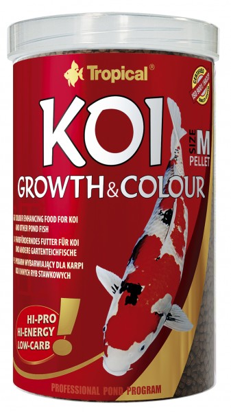 "Koi Growth & Colour Pellet Size ""M"" & ""L"""