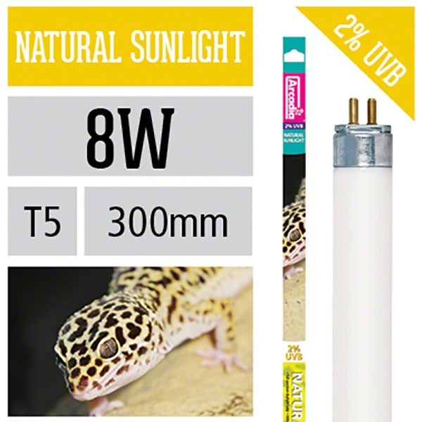 Natural Sunlight T5, 8 Watt 2% UVB