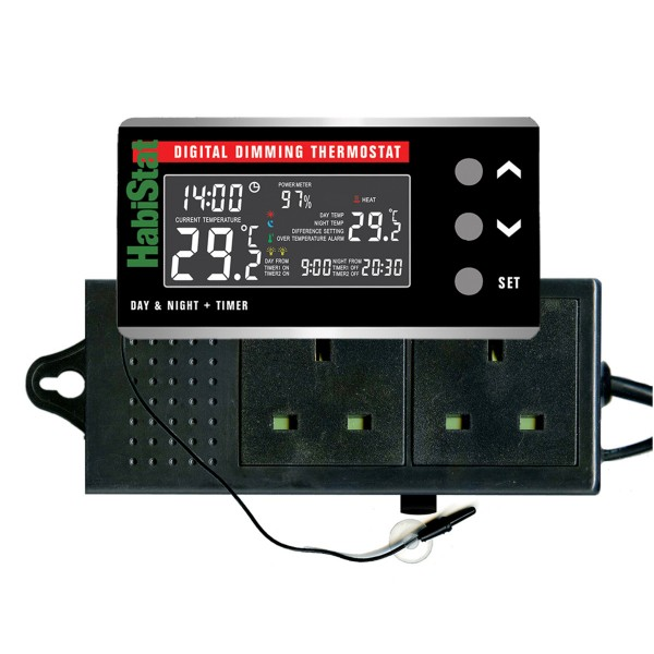 Digitales Dimmbares Thermostat Tag/Nacht-Timer