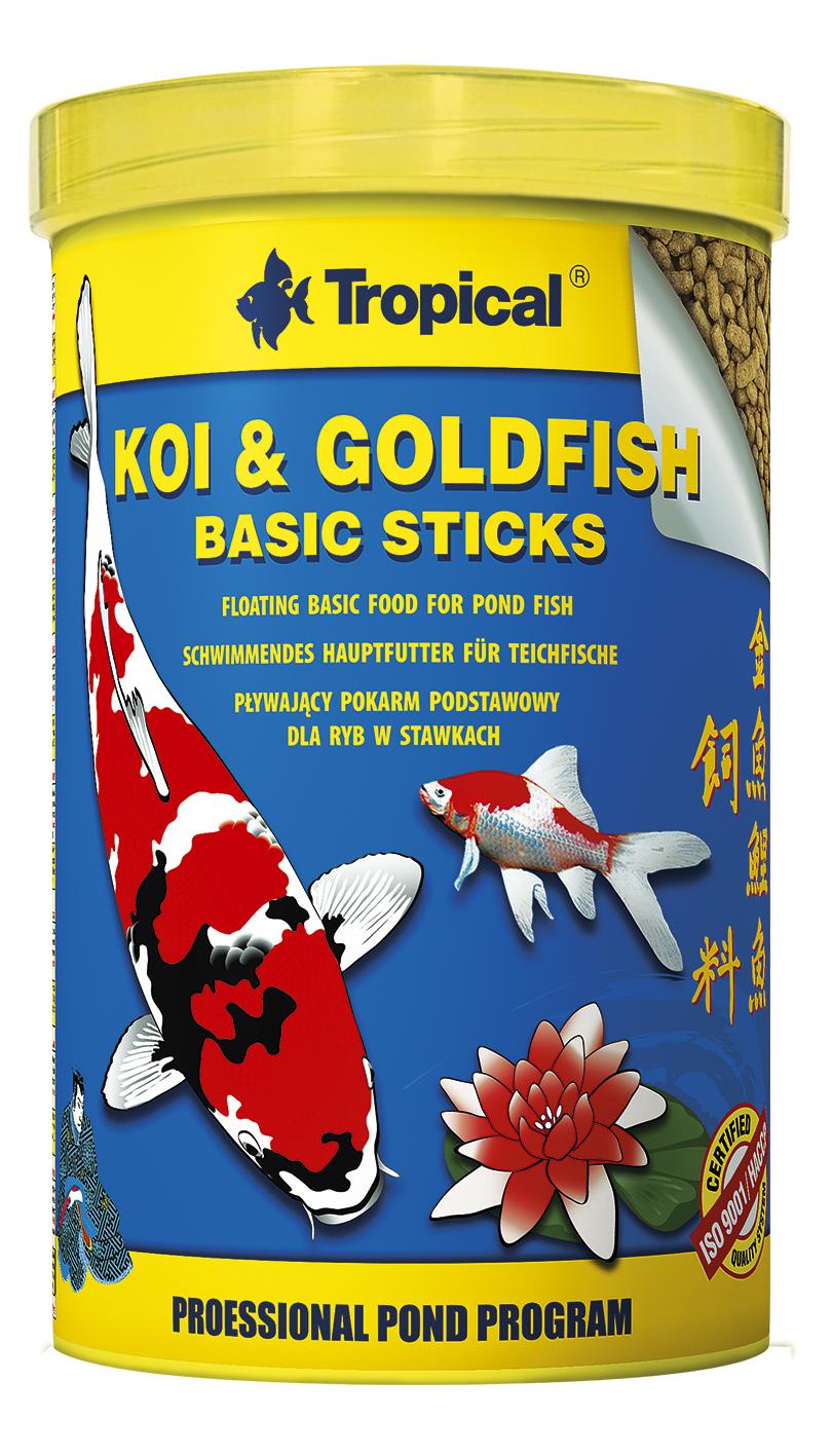 Koi goldfisch basic sticks hauptfutter alleinfutter teich Teichfische deutschland