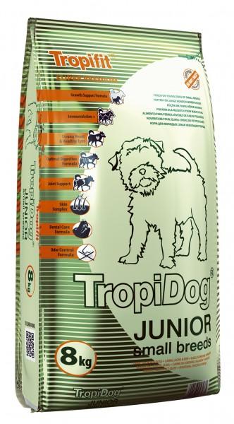 TropiDog Junior für kleine Rassen mit Lamm, Lachs & Eiern