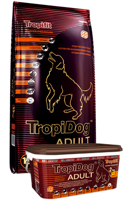 Tropical TropiDog Adult für mittlere & große Rassen Lachs & Hühnchen Hundefutter 3kg