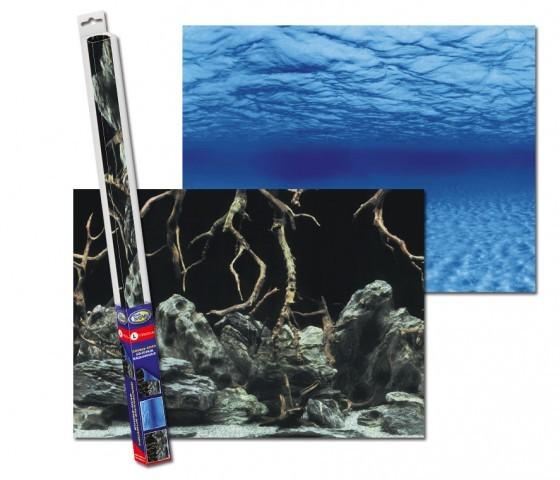 AquaNova Aquarium Posterrückwand Wurzeln und Wasser