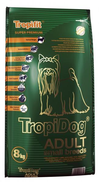 TropiDog Adult für kleine Rassen mit Lamm, Lachs & Reis