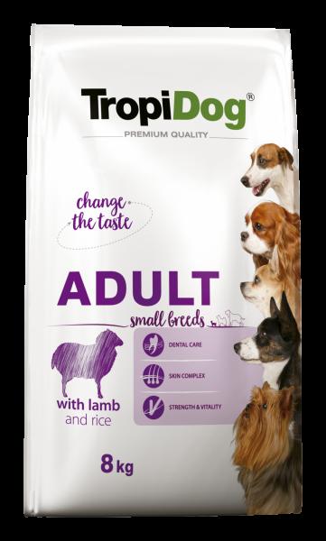 TropiDog Premium Adult für kleine Rassen mit Lamm & Reis