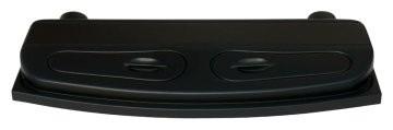 Kunststoffabdeckung Selecto schwarz gebogene Front
