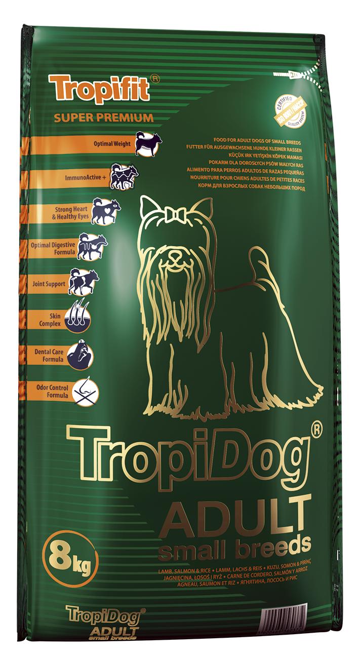 Tropical TropiDog Adult für kleine Rassen mit Lamm, Lachs & Reis - Hundefutter 8kg
