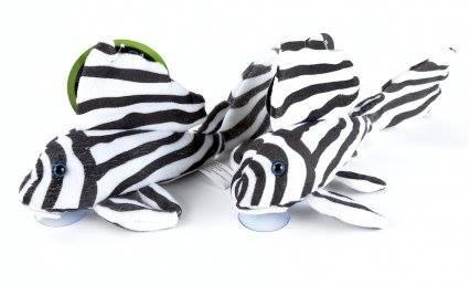 GreenPleco - Zebra Pleco Plüschtier XXL