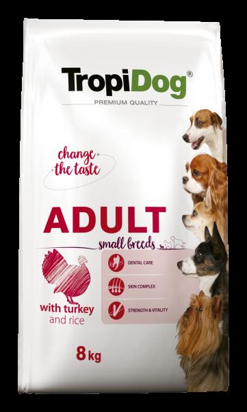 TropiDog Premium Adult für kleine Rassen mit Truthahn & Reis