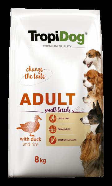 TropiDog Premium Adult für kleine Rassen mit Ente & Reis